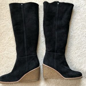Coach heeled boots lined with fur
